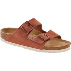 Birkenstock Arizona Soft Footbed Sandals Suede Leather Narrow Women, różowy/brązowy